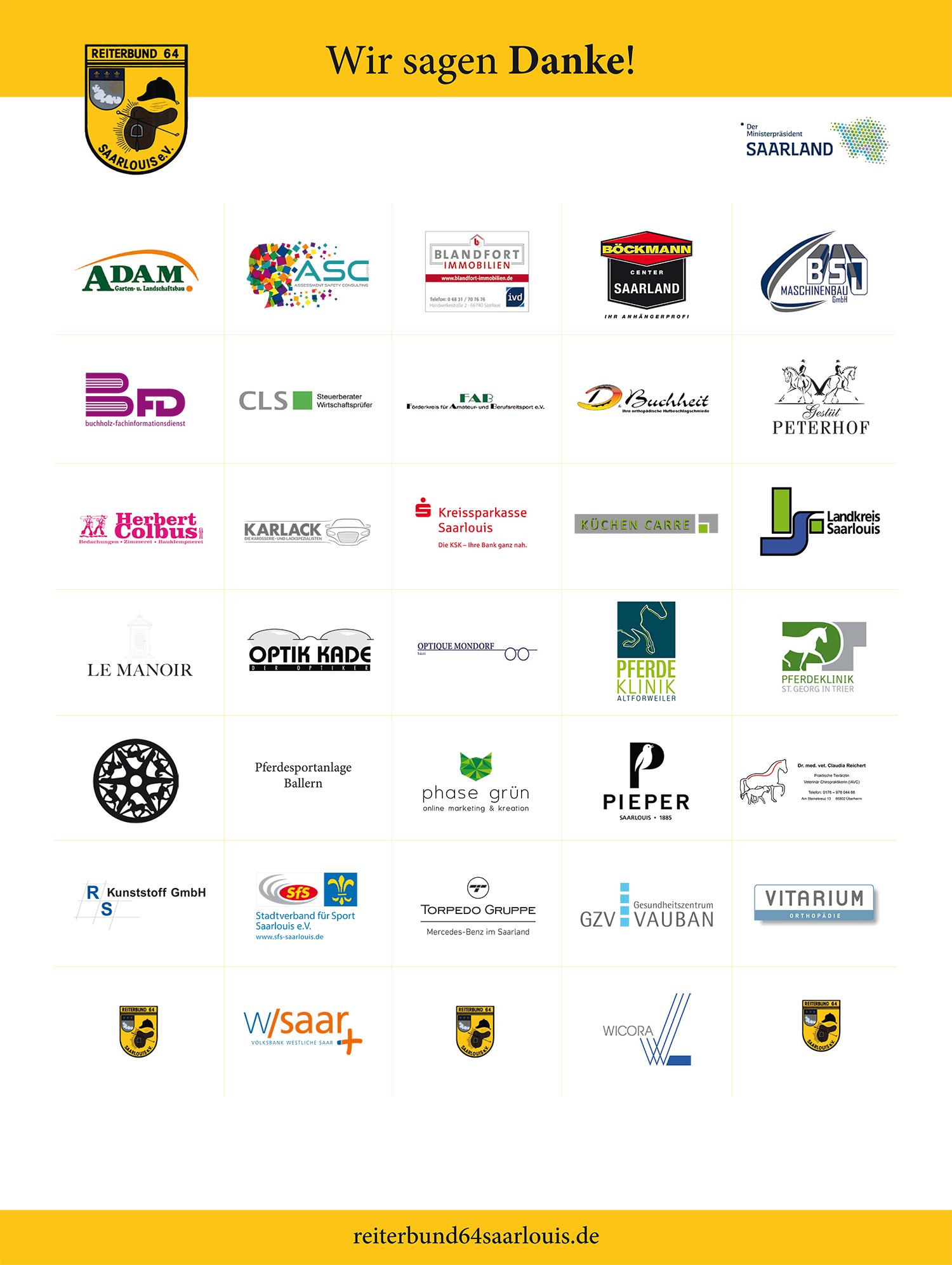 Reiterbund 64 Saarlouis e.V. - Sponsoren 2018