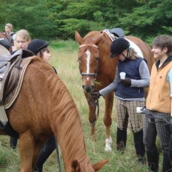 Ein Foto vom Jugendausritt September 2009